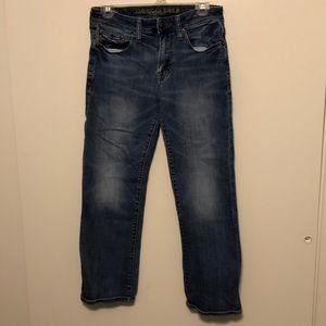 2 pairs American Eagle original boot jeans
